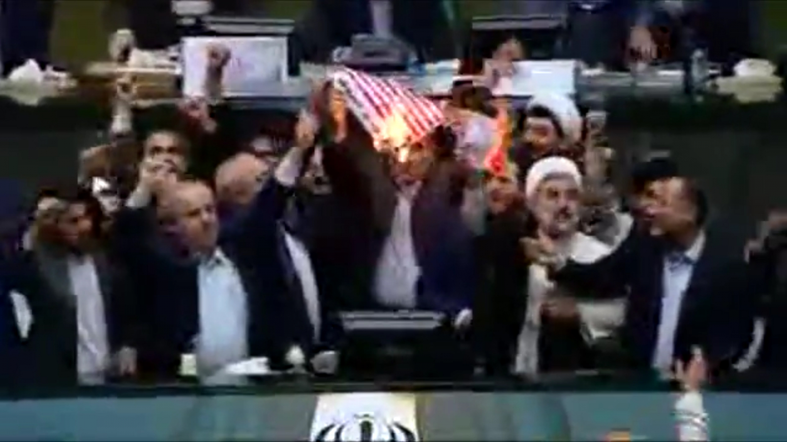 iranian-lawmakers-burn-u-s-flag-in-parliament