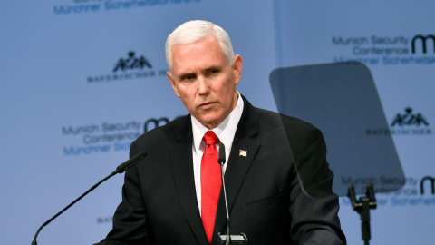 Watch This Is What Happened When Mike Pence Brought Up Donald Trump In A Speech To European Leaders